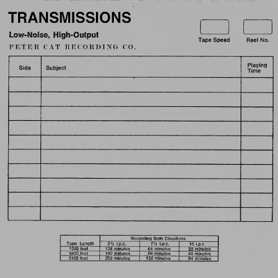 Peter Cat Recording Co. <BR>&#8220;Transmissions&#8221;