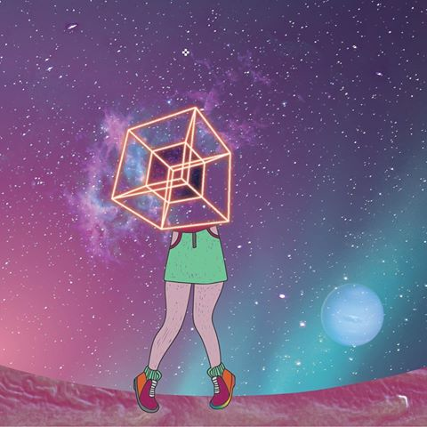 "Loopstache <BR>""Hypercube"""